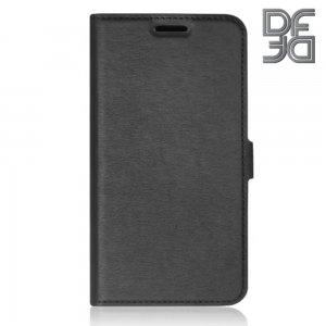 DF флип чехол книжка для Samsung Galaxy A71 - Черный