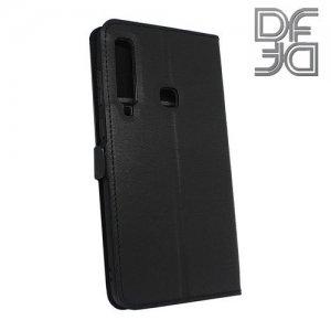 DF флип чехол книжка для Samsung Galaxy A9 2018 SM-A920F - Черный