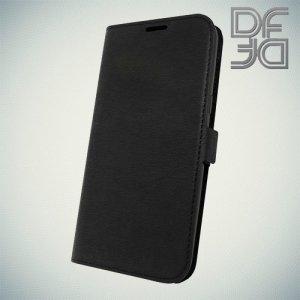 DF флип чехол книжка для Samsung Galaxy J2 (2018) SM-J250F - Черный