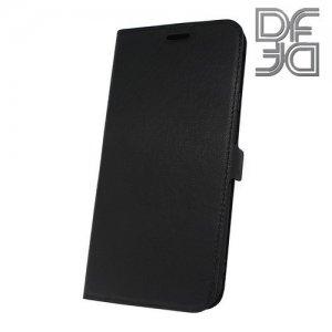 DF флип чехол книжка для Samsung Galaxy J4 Plus - Черный
