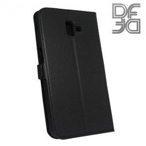 DF флип чехол книжка для Samsung Galaxy J6 Plus - Черный