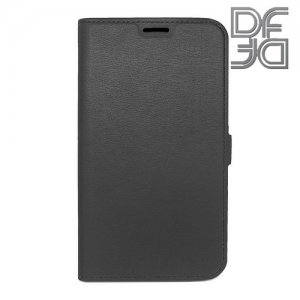 DF флип чехол книжка для Samsung Galaxy J7 Neo - Черный