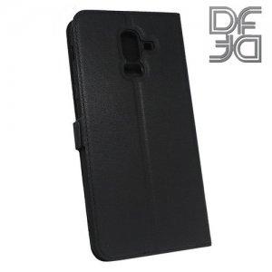 DF флип чехол книжка для Samsung Galaxy J8 2018 - Черный