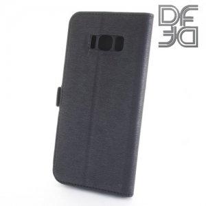 DF флип чехол книжка для Samsung Galaxy S8 - Черный