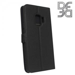 DF флип чехол книжка для Samsung Galaxy S9 - Черный
