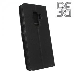 DF флип чехол книжка для Samsung Galaxy S9 Plus - Черный