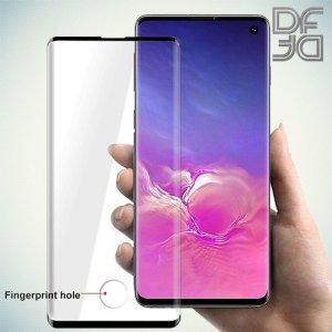 DF Изогнутое защитное 3D стекло для Samsung Galaxy S10 Plus - Черное
