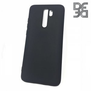 DF Мягкий силиконовый чехол для Xiaomi Redmi Note 8 Pro с микрофибровой подкладкой черный
