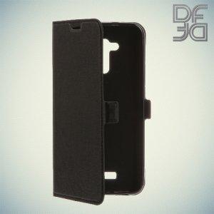 DF sFlip флип чехол книжка для Asus ZenFone 3 Max ZC520TL - Черный