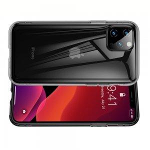 DF Ультратонкий черный силиконовый чехол для iPhone 11 Pro Max