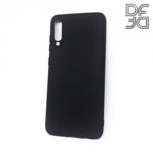 DF Ультратонкий черный матовый силиконовый чехол для Samsung Galaxy A70