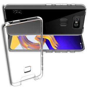 DF Ультратонкий прозрачный силиконовый чехол для Asus Zenfone 6 ZS630KL