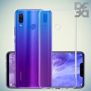 DF Ультратонкий прозрачный силиконовый чехол для Huawei Nova 3