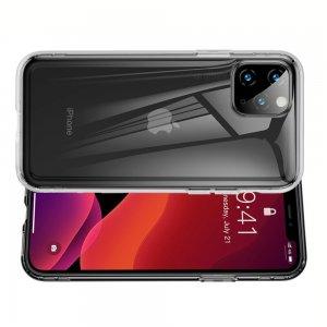 DF Ультратонкий прозрачный силиконовый чехол для iPhone 11 Pro Max