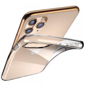 DF Ультратонкий прозрачный силиконовый чехол для iPhone 11 Pro