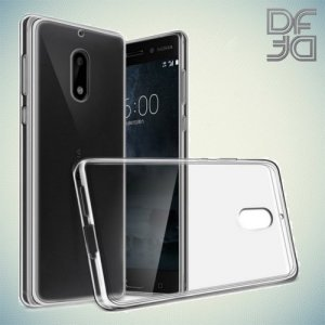 DF Ультратонкий прозрачный силиконовый чехол для Nokia 2.1 2018