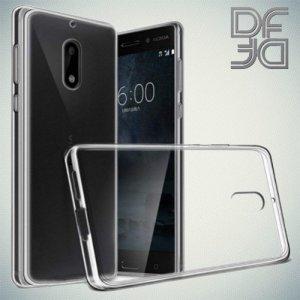 DF Ультратонкий прозрачный силиконовый чехол для Nokia 3.1 2018