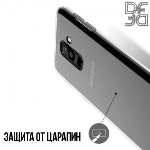 DF Ультратонкий прозрачный силиконовый чехол для Samsung Galaxy A6 Plus 2018