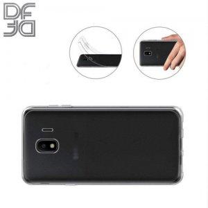 DF Ультратонкий прозрачный силиконовый чехол для Samsung Galaxy J4 2018 SM-J400F