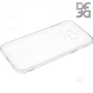 DF Ультратонкий прозрачный силиконовый чехол для Samsung Galaxy J6 2018 SM-J600F