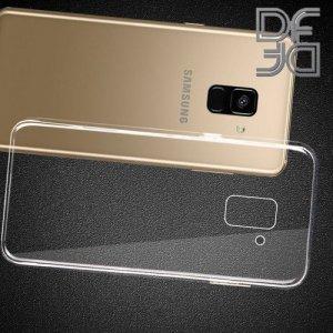 DF Ультратонкий прозрачный силиконовый чехол для Samsung Galaxy J6 Plus