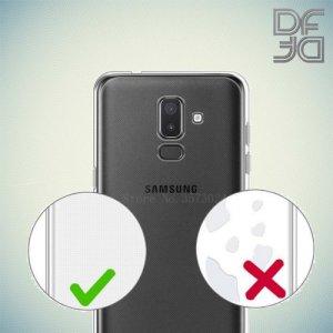 DF Ультратонкий прозрачный силиконовый чехол для Samsung Galaxy J8 2018