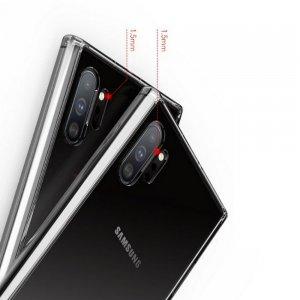 DF Ультратонкий прозрачный силиконовый чехол для Samsung Galaxy Note 10 Plus / 10+