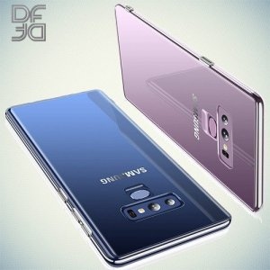 DF Ультратонкий прозрачный силиконовый чехол для Samsung Galaxy Note 9