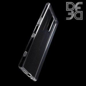 DF Ультратонкий прозрачный силиконовый чехол для Sony Xperia XZ4