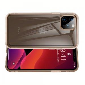 DF Ультратонкий золотой силиконовый чехол для iPhone 11 Pro Max