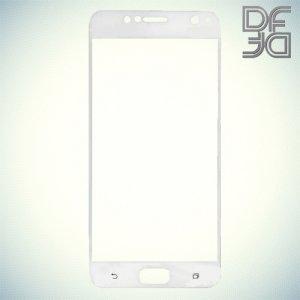 DF Закаленное защитное стекло на весь экран для Asus Zenfone 4 Live ZB553KL - Белый