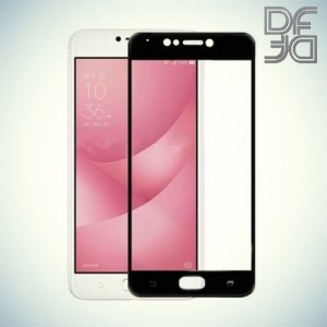 DF Закаленное защитное стекло на весь экран для Asus Zenfone 4 Max ZC520KL - Черный