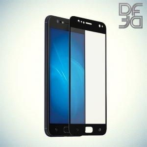 DF Закаленное защитное стекло на весь экран для Asus Zenfone 4 Selfie ZD553KL - Черный