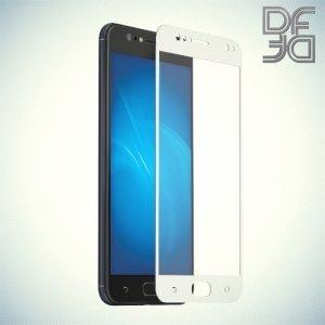 DF Закаленное защитное стекло на весь экран для Asus Zenfone 4 Selfie ZD553KL - Белый