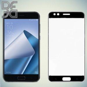 DF Закаленное защитное стекло на весь экран для Asus Zenfone 4 ZE554KL - Черный