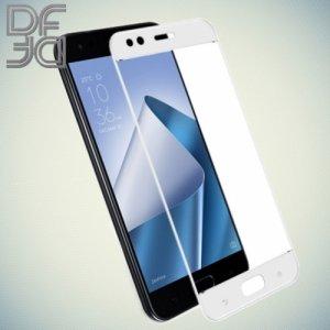 DF Закаленное защитное стекло на весь экран для Asus Zenfone 4 ZE554KL - Белый