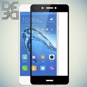 DF Закаленное защитное стекло на весь экран для Huawei Honor 6C - Черный