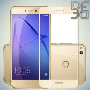 DF Закаленное защитное стекло на весь экран для Huawei Honor 8 lite - Золотой