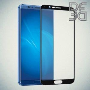 DF Закаленное защитное стекло на весь экран для Huawei Honor View 10 (V10) - Черный