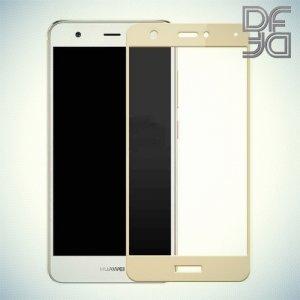 DF Закаленное защитное стекло на весь экран для Huawei nova - Золотой