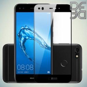 DF Закаленное защитное стекло на весь экран для Huawei Nova lite 2017 - Черный