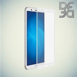 DF Закаленное защитное стекло на весь экран для Huawei P Smart - Белый