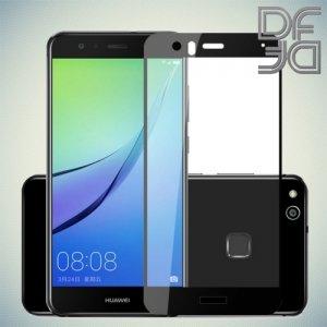 DF Закаленное защитное стекло на весь экран для Huawei P10 Lite - Черный