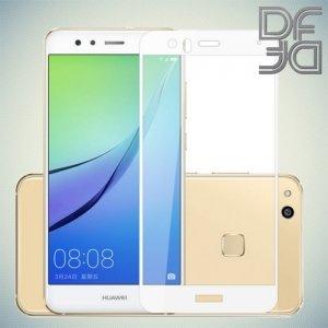 DF Закаленное защитное стекло на весь экран для Huawei P10 Lite - Белый