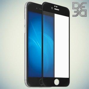 DF Закаленное защитное стекло на весь экран для iPhone 8 Plus / 7 Plus - Черный