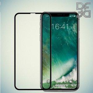 DF Закаленное защитное стекло на весь экран для iPhone Xs / X / 11 Pro - Черный