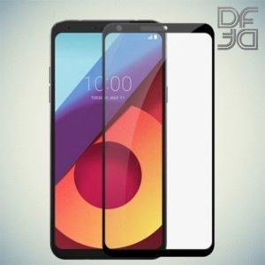 DF Закаленное защитное стекло на весь экран для LG Q6 M700AN / Q6a M700 - Черный