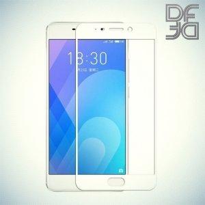 DF Закаленное защитное стекло на весь экран для Meizu M6 Note - Белый