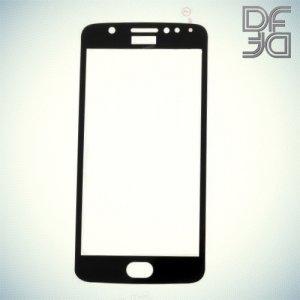 DF Закаленное защитное стекло на весь экран для Moto E4 - Черный