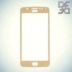 DF Закаленное защитное стекло на весь экран для Moto E4 - Золотой